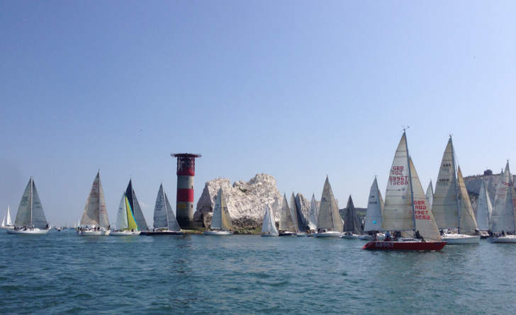Round the Island Race 2014 at the Needles