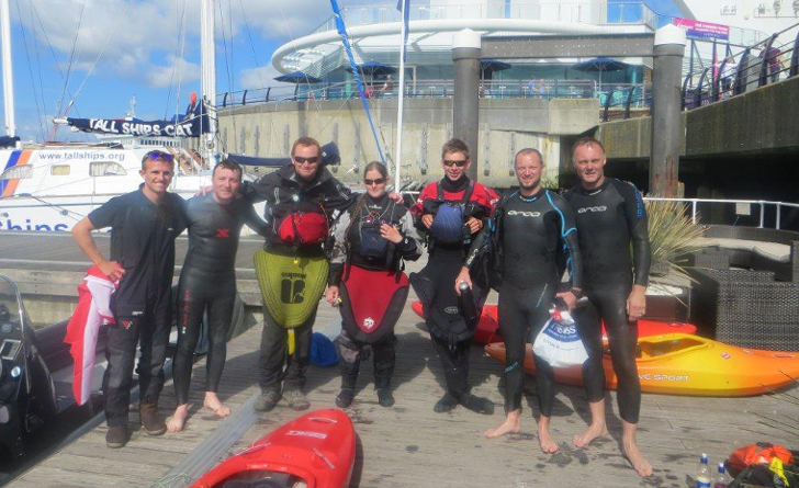 Charity Solent Swim team
