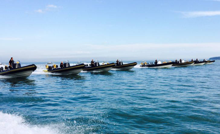 Ribs in formation on the Solent