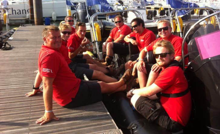 Rib charter skippers relax