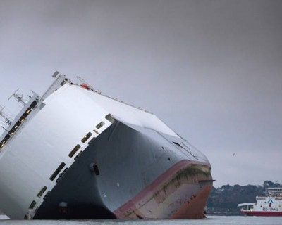 Cargo Ship deliberately grounded in the Solent