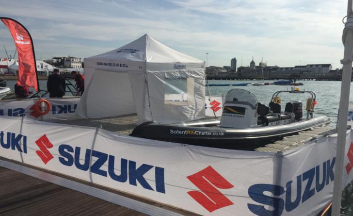 Boat show Suzuki stand