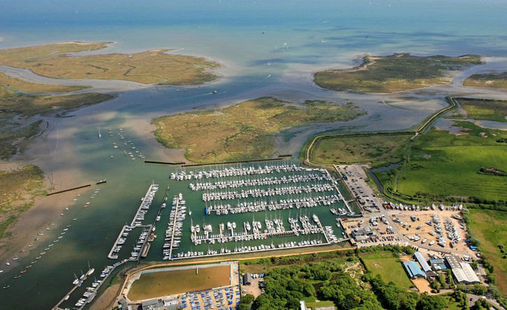 Lymington Yacht Harbour from the air
