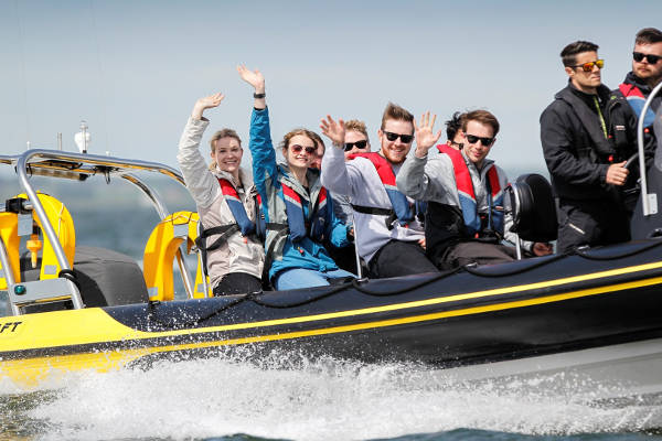 See the Solent on a Rib charter