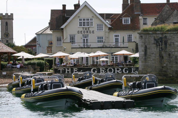Solent dining - The George at Yarmouth