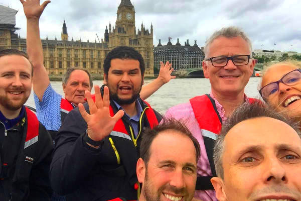 Abellio treasure hunt on the River Thames