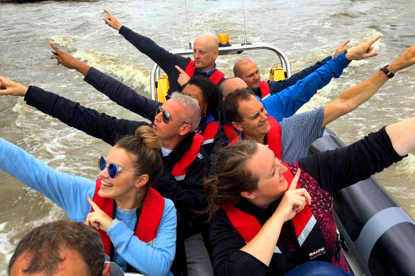Team Abellio on rib charter