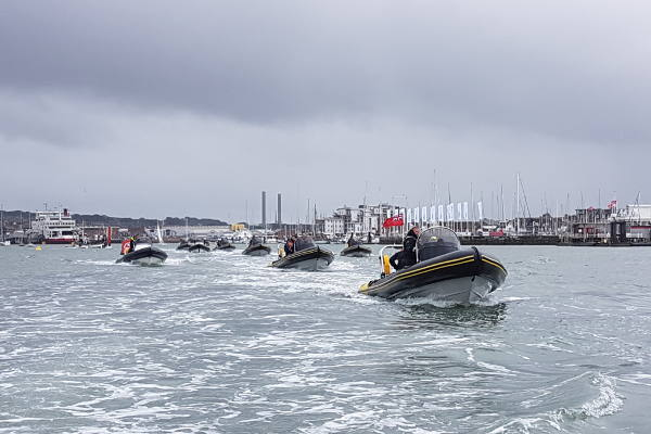 Rib charter fleet in Southampton Water