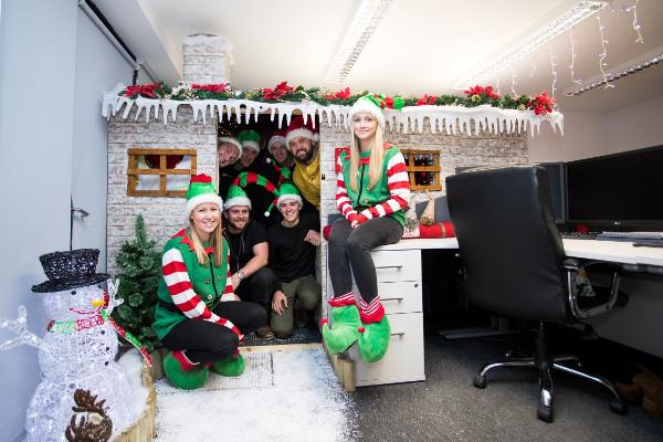 rib charter news christmas grotto office prank