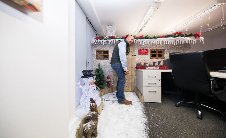 Rib Charter News Christmas Grotto Office Prank