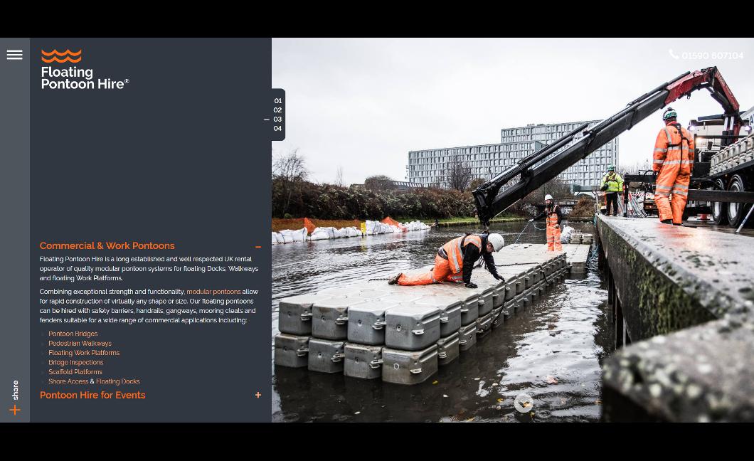 Floating Pontoon Hire Website Upgrade