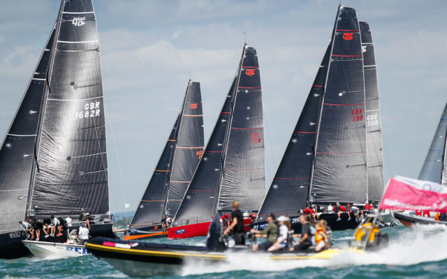 Rib spectating Cowes Week