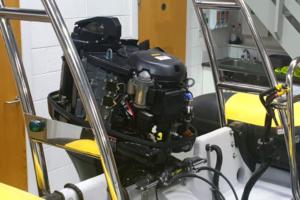 Exposed engine on Rib